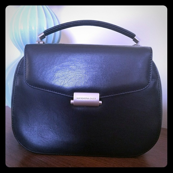 Mandarina Duck Bags   Hera Bag Black Italian Leather   Poshmark 841ad54b86